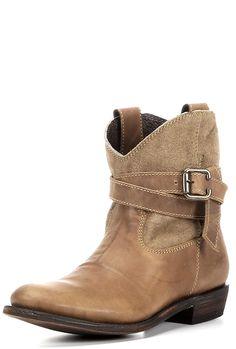 Women's Yukon Strap Boot - Tan & Sand Suede