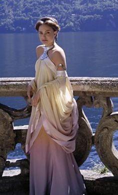 Amidala's lake dress. I really like this one, and would like to make one someday- but with a higher back. :)