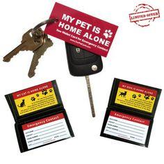 Pet Emergency Keychain + 2 Pet Cards