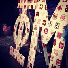 Phi Mu letters: different quats to represent the diversity of our chapter- Lambda Epsilon