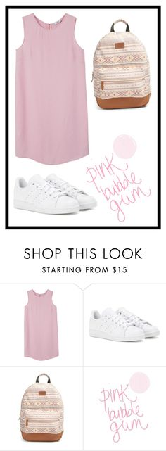 """#480 pink bubble gum"" by xjet1998x ❤ liked on Polyvore featuring MANGO, adidas and Rip Curl"