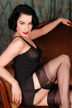 stockings (dita von teese collection) and girdles... to check out on: www.secretsinlace.com