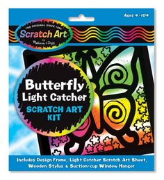 Kids' Scratchboard Art Kits - Melissa  Doug Butterfly Light Catcher Scratch Art Kit -- Want to know more, click on the image.