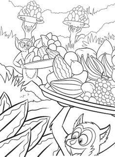 pictures the followers of king julien madagascar coloring pages madagascar coloring pages kidsdrawing