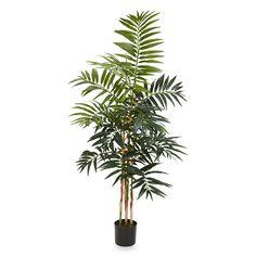 Nearly Natural 4-Foot Bamboo Palm Silk Tree - BedBathandBeyond.com