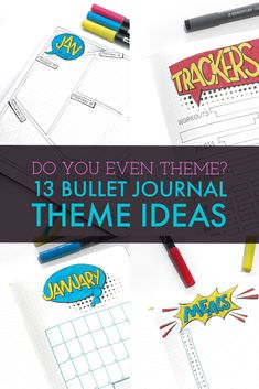 Having a theme for your bullet journal can save you lots of time and creative angst.  Here you can find 13 inspirational bullet journal themes for your journal.  More than one for every month of the year!