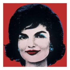 Art Print: Jackie, 1964 (on red) by Andy Warhol : 22x22in
