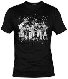 Camiseta All family of Goku B W, Camisetas Albertocubatas, Artistas.