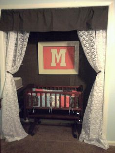 Closet turned Bassinet area in our room for baby to sleep in until he is old eno - Modern Crib In Closet, Baby Room Closet, Baby Bedroom, Baby Room Decor, Room Baby, Baby Rooms, Nursery Decor, Baby Girl Bassinet, Small Space Nursery