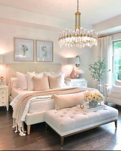 Room Ideas Bedroom, Home Decor Bedroom, Diy Bedroom, Couple Bedroom Decor, Romantic Master Bedroom, Shabby Bedroom, Bedroom Table, Gold Home Decor, Bedroom Signs