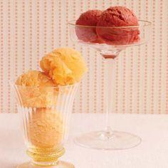 ... ice cream maker to make sorbet. During the summer, she loves sorbets