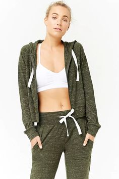 Product Name:Active Heathered Knit Zip-Up Hoodie, Category:Activewear, Price:17.9