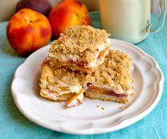 Bake. Eat. Repeat.: Peaches and Cream Crumble Bars