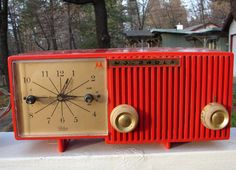Clock radio ... every teen had one ... mine was white!