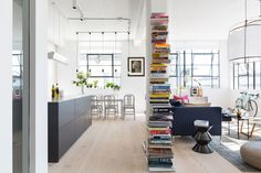An Industrial, Colorful Loft in London - http://freshome.com/colorful-loft-in-london/
