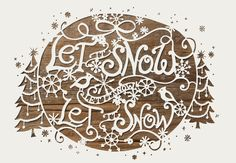 LET IT SNOW A festive paper-cutout that was used on anthropologie's website during Christmas of 2009 art direction: david chanpong, laura twilley Christmas Paper, All Things Christmas, Christmas Crafts, Christmas Time, White Christmas, Merry Christmas, Christmas Decorations, Kirigami, Paper Cutting