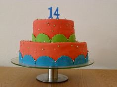 Verjaardagstaart Nick 14 jaar