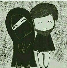 Any crazy act is beautiful with you Cute Muslim Couples, Muslim Girls, Cute Couples, Love Cartoon Couple, Cute Couple Art, Muslim Images, Islam Marriage, Islamic Cartoon, Muslim Family