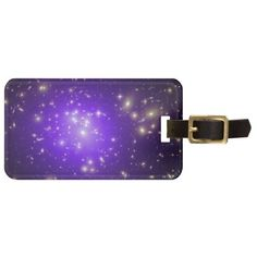 Purple haze of stars luggage tags