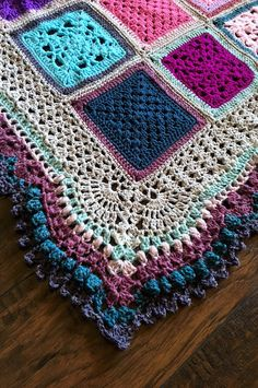 Crochet Pattern: Vibrant Vintage Blanket Border! Absolutely gorgeous edging pattern to finish off your crochet blanket project