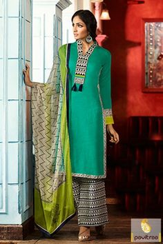 Pakistani Palazzo Suit Pakistani #Pantstylesuits #Salwarsuit #PakistaniSuitonline #Straightcutsuit More: http://www.pavitraa.in/store/salwar-kameez/?utm_source=hp&utm_medium=pinterestpost&utm_campaign=4Nov Free Shipping + COD Service In India More Details : Call / WhatsApp : +91-75750-33399