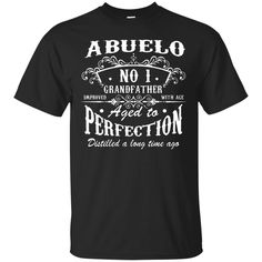 Abuelo Grandfather T-shirts Number One Grandfather Abuelo Shirts Hoodies Sweatshirts