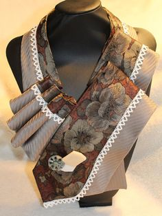 woman-necktie-unique-scarf-upcycle-tie