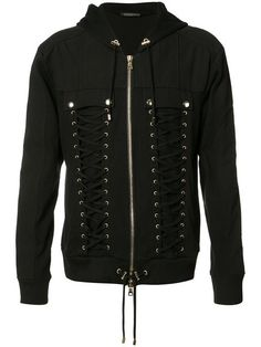 BALMAIN Lace-Up Sweater. #balmain #cloth #