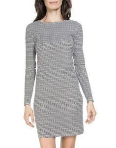 Monochrome Body Con Dress