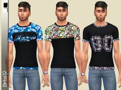 Tropical Flowers for males by Birba32 at TSR via Sims 4 Updates