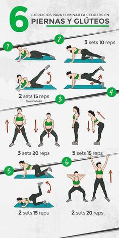Luce piernas hermosas con estos ejercicios paso a paso. | ejercicios para piernas paso a paso | ejercicios en casa piernas | #ejercicios #workout