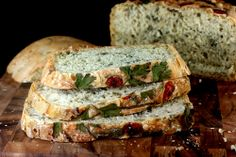 I'm pinning this for the original bread recipe by Jacques Pepin link ... tabbouleh-bread-4