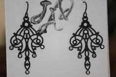 So elegant and pretty:  Black Chandelier Earrings with Crystal Rhinestones by JADjewelry, $20.00