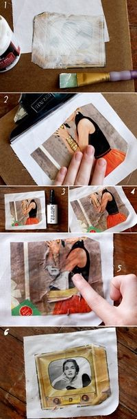 How to transfer a picture to fabric