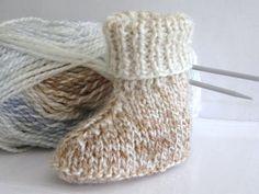 Designer Baby Knitting PATTERN  Hi Cuff Boots/Booties by carolrosa, $2.60