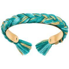 Aurélie Bidermann Bracelet ($91) ❤ liked on Polyvore featuring jewelry, bracelets, azure, fringe jewelry and aurélie bidermann