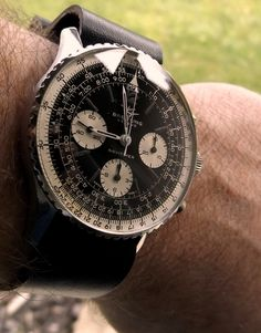 Vintage Breitling Navitimer Chronograph In Stainless Steel