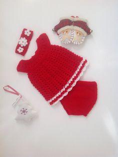 Baby girl Christmas outfitnewborn Christmas por TwoNeedlesOneMagic
