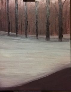 A personal favorite from my Etsy shop https://www.etsy.com/listing/512087793/path-through-snowy-woods-unframed