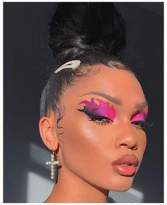 Fire Makeup, Makeup Eye Looks, Eye Makeup Art, Crazy Makeup, Skin Makeup, Daily Makeup, Cute Makeup Looks, Eye Art, Gorgeous Makeup