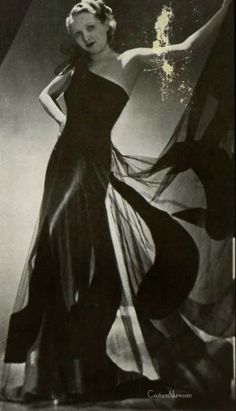 Couture Allure Vintage Fashion: Weekend Eye Candy - Mathilde Geral, 1939