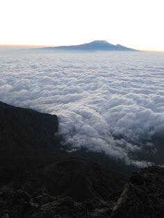 Sea of clouds - Mount Meru, Tanzania