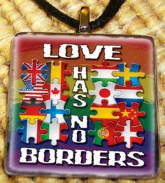 $5.00 OF EVERY PENDANT WILL GO TO IMMIGRATION EQUALITY    This pendant is digitally printed on high quality Teslin paper giving you a vibrant image of the highest quality. The colors will last a lifetime and never fade!