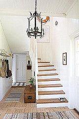 Wood & white stairs