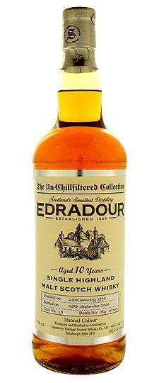 Edradour highland single malt scotch whisky