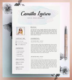 Creatieve CV-sjabloon CV-Template Instant Download door CvDesignCo