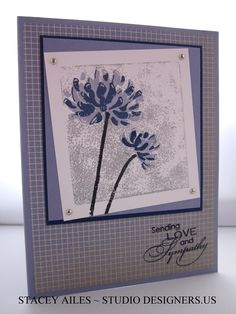 Stampin Up Love and Sympathy, Too Kind, Sympathy Card