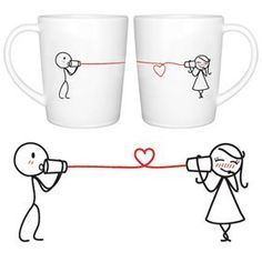 "Amazon.com: BoldLoft ""Say I Love You"" Couple Coffee Mugs-Romantic Valentines Gifts for Couples,Cute Valentines Day Gift Ideas,Good Couple Gifts for Valentines,Romantic Anniversary Gifts: Kitchen & Dining                                                                                                                                                                                 More"