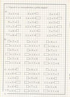Albumarchívum Math For Kids, Math Worksheets, Archive, Album, Teaching, Preschool, Science, Math Equations, Words