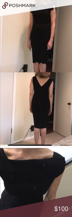 Elie Tahari worn once Elegant with dramatic cascade down the back (see picture 4)perfect for a dressy afternoon or evening event. Comes in handy for sure, easy to accessorize and pack. Lingerie straps to secure your bra straps. Size cut out but is a 6. Purchased at Bloomingdales for around 400 on sale. Elie Tahari Dresses